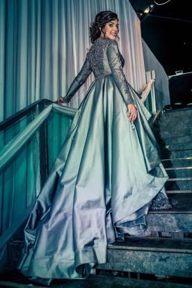 שמלה צנועה מרשימה לערב