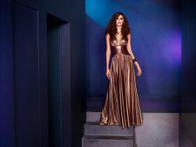 שמלת ערב בצבע ברונזה