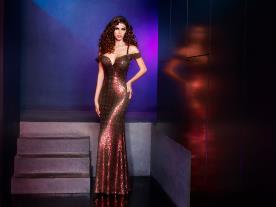 שמלת ערב רקומה פייטים