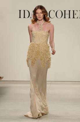 שמלת ערב זהב קולר