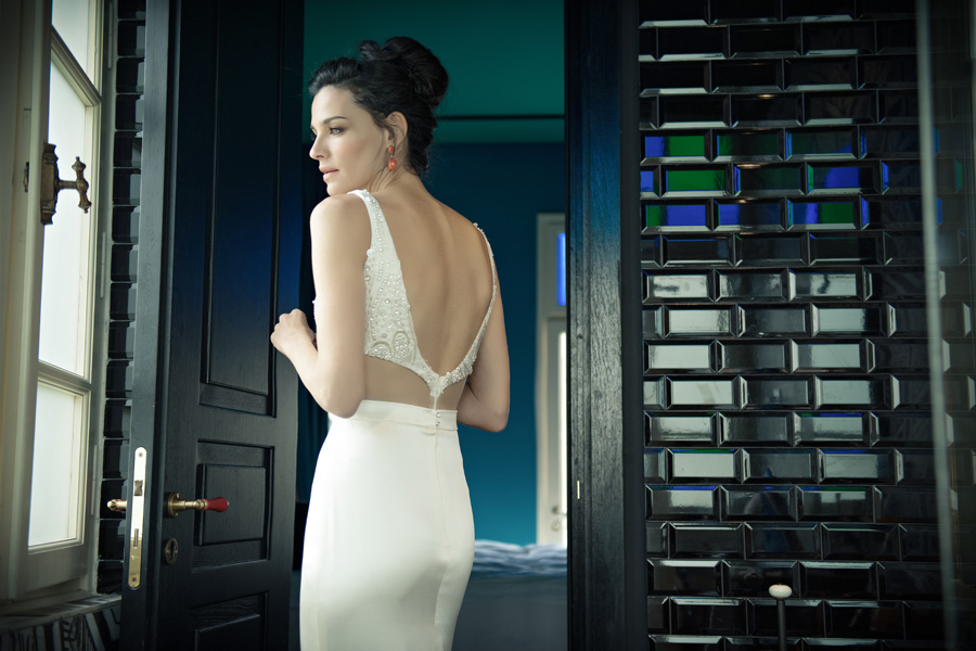 שמלת כלה שני חלקים גב חשוף