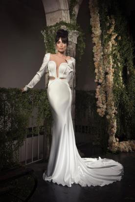 שמלת כלה סאטן נועזת