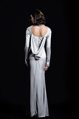 שמלת ערב כסופה גב רפוי