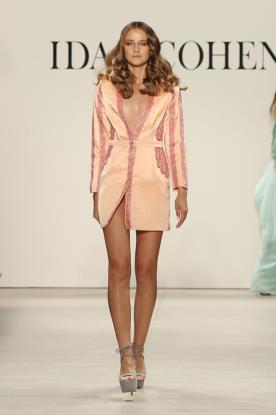 שמלת ערב סגנון ז'קט מחורז