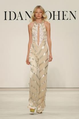 שמלת ערב אוברול מכנסיים ומחשוף