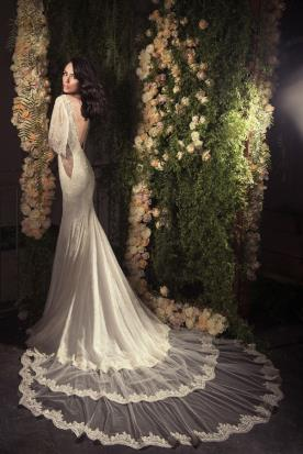 שמלת כלה תחרה נסיכתית