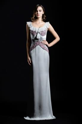 שמלת ערב קלאסית עם חרוזים