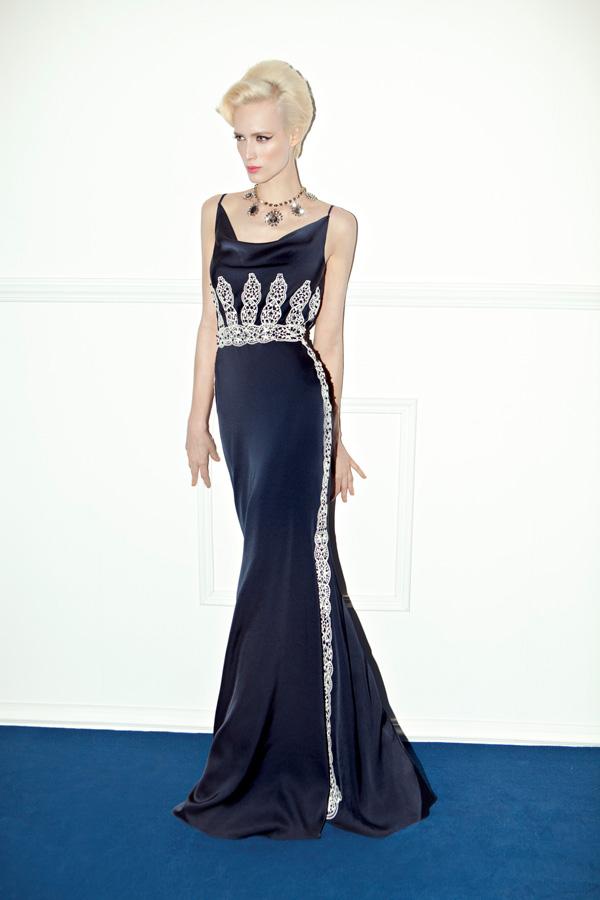 שמלת ערב מקסי עם עיטורים