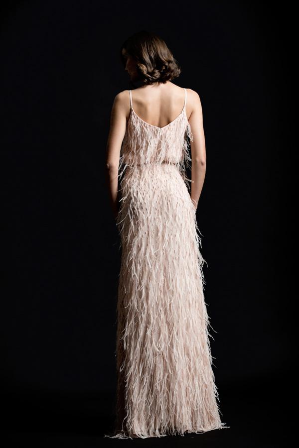 שמלת ערב פרנזים גב פתוח