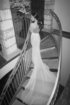 שמלת כלה גזרה גבוהה ושובל ארוך
