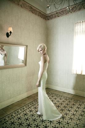 שמלת כלה רומנטית חלקה