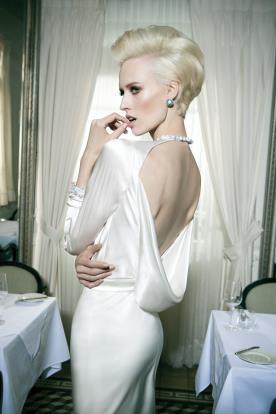 שמלת כלה גב רפוי קולר
