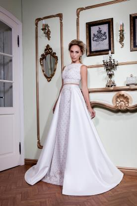 שמלת כלה שני חלקים חצאית רחבה