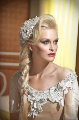 עיצוב שיער ואיפור רומנטיים
