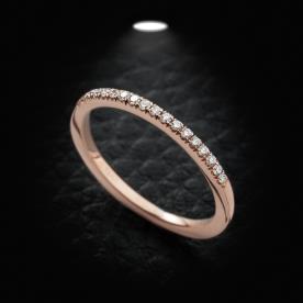 טבעת אירוסין זהב אדום אטרניטי
