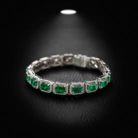 צמיד יהלומים ירוקים