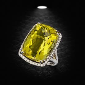 טבעת אירוסין אבן צהובה