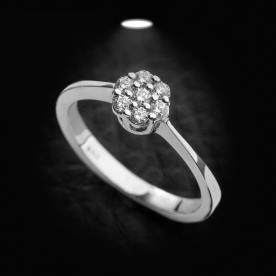 טבעת אירוסין סוליטר פרח
