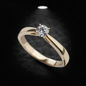 טבעת אירוסין סוליטר קלאסית