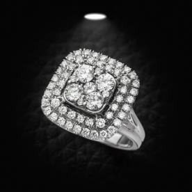 טבעת אירוסין מרובע רחב
