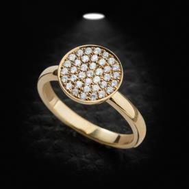 טבעת אירוסין צלחת יהלומים