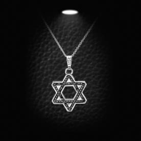 תליון מגן דוד יהלומים שחורים