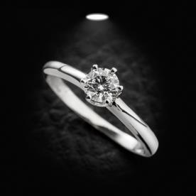 טבעת אירוסין סוליטר יהלום עגול