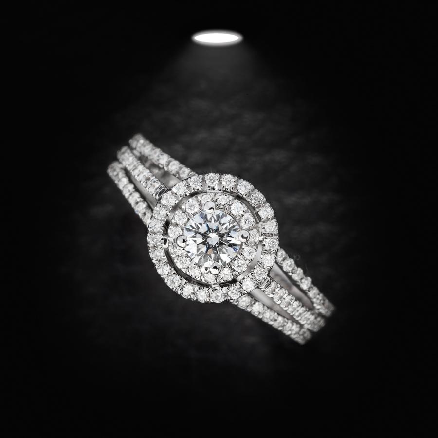 טבעת אירוסין שלוש שורות