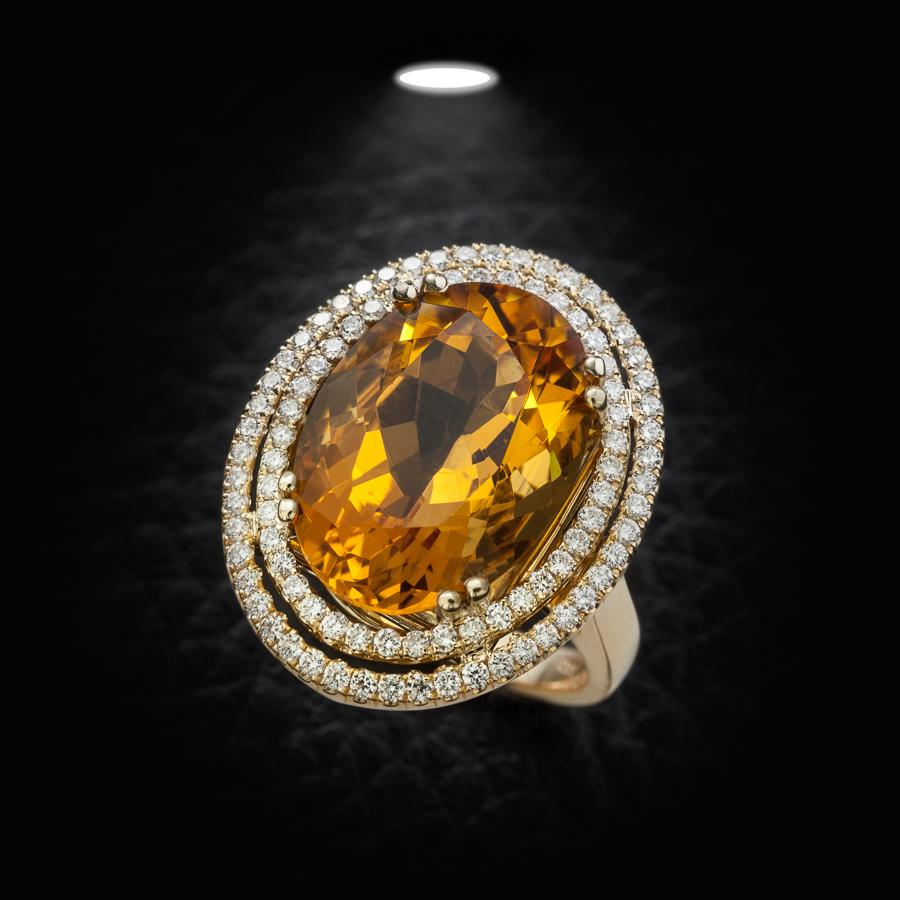 טבעת אירוסין אבן סיטרין