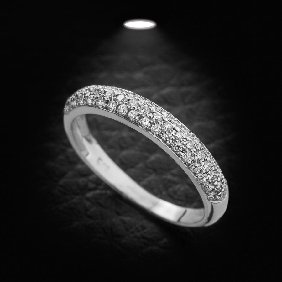 טבעת אירוסין אטרניטי שלוש שורות