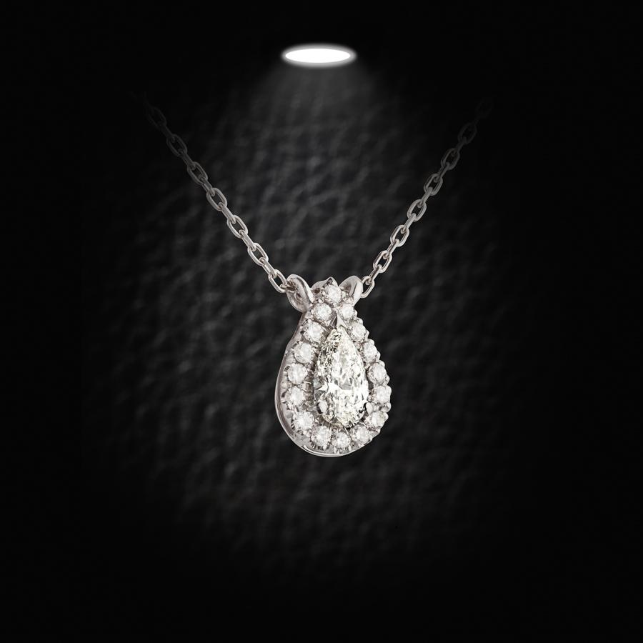 תליון טיפה משובץ יהלומים