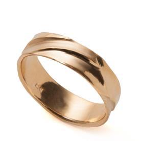 טבעת זהב קלאסית לגבר