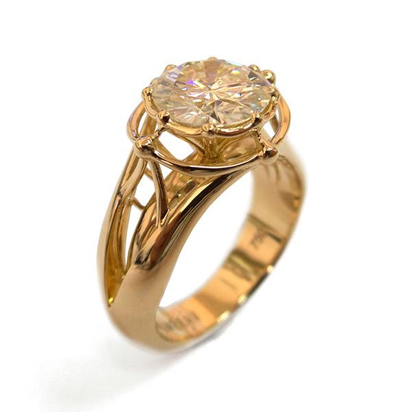טבעת אירוסין זהב רחבה