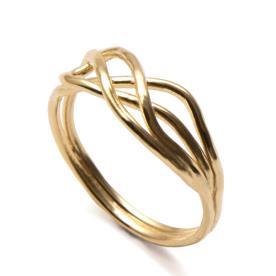 טבעת זהב צהוב עדינה לכלה