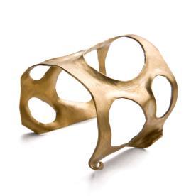 טבעת זהב מחוררת עבה