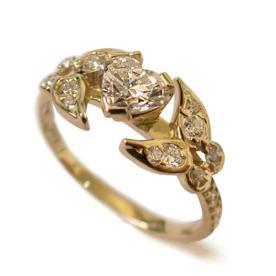 טבעת אירוסין וינטאג משובצת