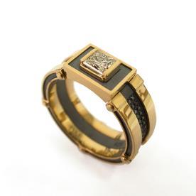 טבעת חותם זהב לחתן
