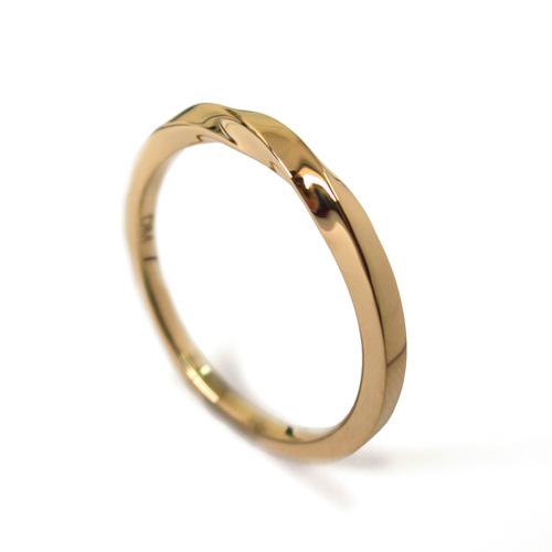 טבעת נישואין זהב טוויסט