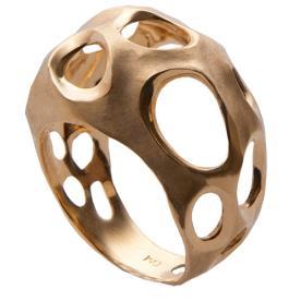 טבעת זהב מודרנית מעוגלת