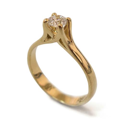 טבעת זהב אירוסין קלאסית