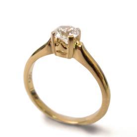 טבעת אירוסין קלאסית לכלה