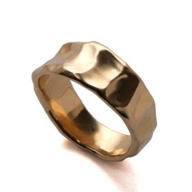 טבעת נישואין זהב לגבר