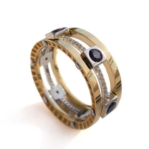 טבעת נישואין מעוטרת לחתן
