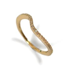 טבעת גלית משובצת יהלומים