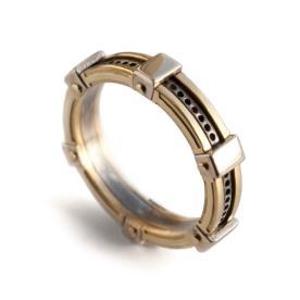 טבעת זהב חתן מחוררת