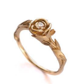 טבעת וינטאג משובצת יהלום