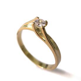 טבעת אירוסין זהב קלאסית