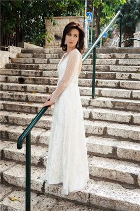 שמלת כלה עם שרוולים תחרה