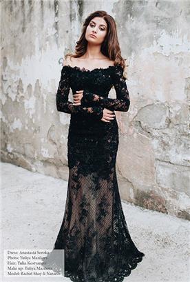 שמלות בעבודת יד שחורה