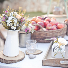 קישוט הבופה בפרחים מיוחדים